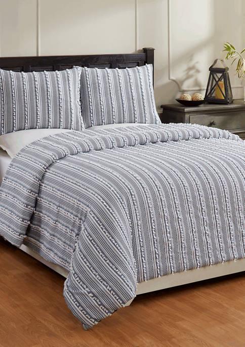 Angelique Comforter Set 100% Cotton Tufted Unique Luxurious Soft Plush Chenille