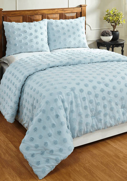 Athenia Comforter Set 100% Cotton Tufted Unique Luxurious Soft Plush Chenille