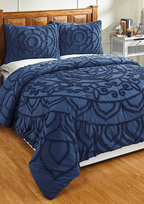 Better Trends Cleo Comforter Set 100% Cotton Tufted