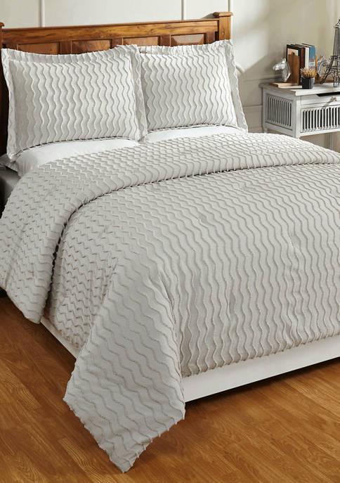 Isabella Comforter Set 100% Cotton Tufted Unique Luxurious Soft Plush Chenille