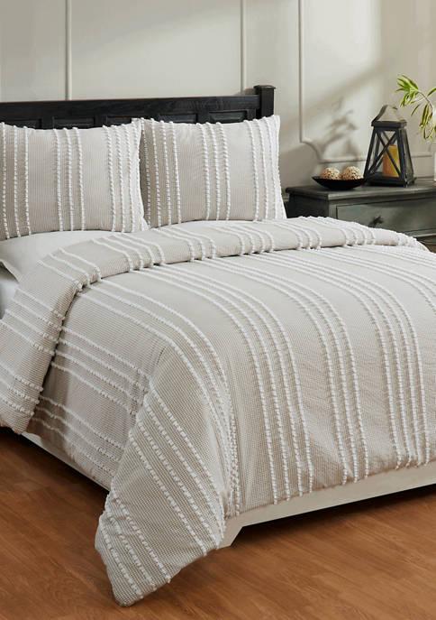 Better Trends Winston Comforter Set 100% Cotton Tufted