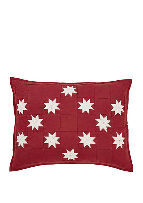 Ashton & Willow Red Farmhouse Bedding Jack Sham