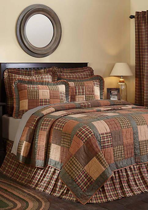 Ashton & Willow Green Primitive Bedding Cinnamon Plaid