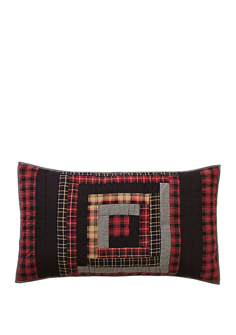 Red Rustic & Lodge Bedding Shasta Cabin Chambray Patchwork Sham