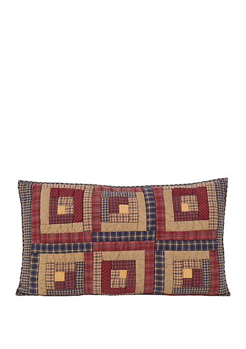 Red Rustic & Lodge Cotton Patchwork Clamont Sham