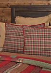 Red Holiday Decor Bedding VHC Gatlinburg Sham