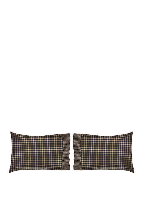 Black Rustic and Lodge Bedding Bannack Pillow Case Set of 2 Cotton Plaid