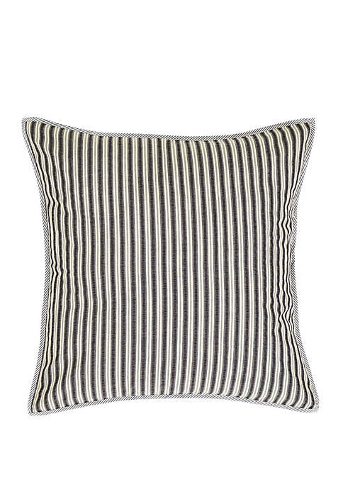 Gray Farmhouse Bedding Haven Euro Sham Cotton Striped Seersucker