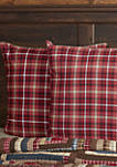 Red Rustic and Lodge Bedding Harvey Cabin Euro Sham Cotton Plaid