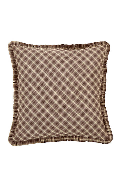 Brown Rustic and Lodge Bedding Brickston Euro Sham Cotton Plaid