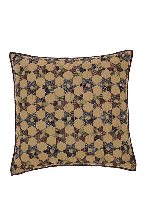 Tan Primitive Bedding Kilton Star Euro Sham Cotton Star Patchwork