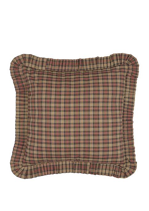 Ashton & Willow Tan Primitive Bedding Cinnamon Plaid