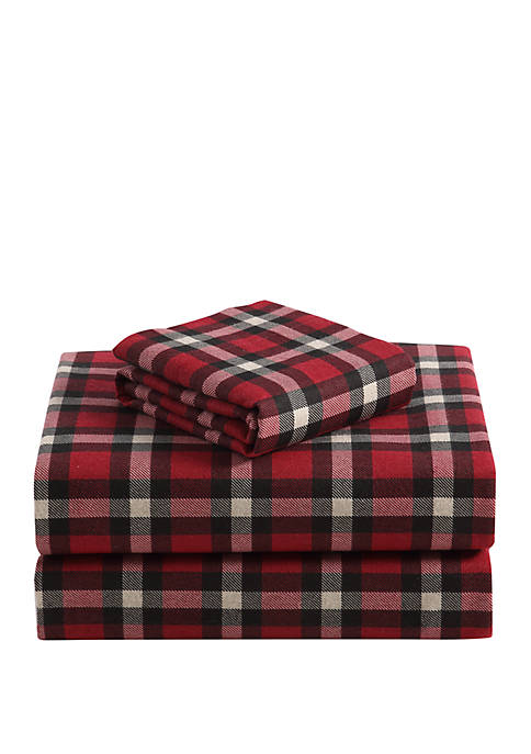 MHF Home Geraldine 100% Cotton Flannel Sheet Set