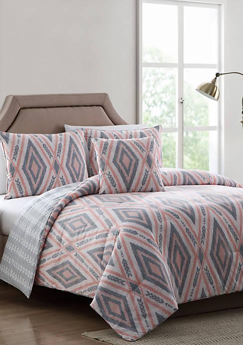 MHF Home Delilah Pink and Gray Tribal Print