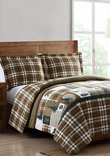 MHF Home Mount Princeton Plaid  Reversible Comforter Set