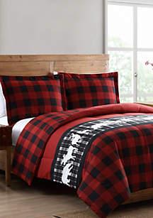 MHF Home Mount Logan Reversible Plaid Comforter Set