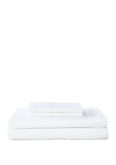 Washed Percale Cotton Sheet Set - 180 Thread Count