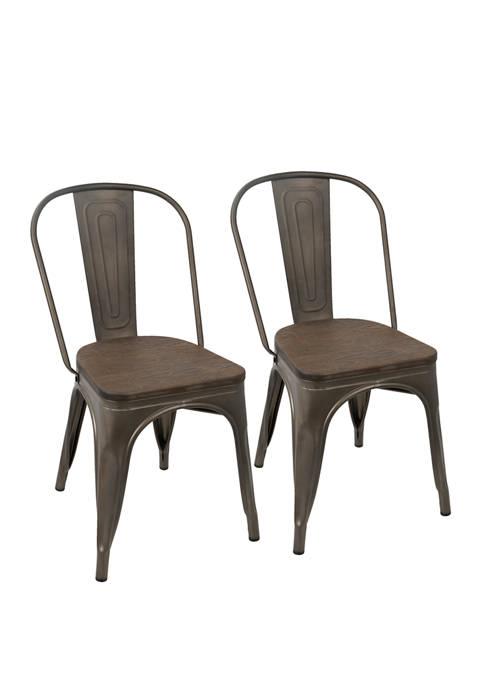 LumiSource Set of 2 Oregon Chairs
