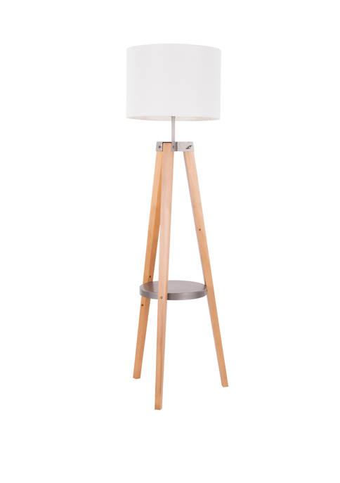 LumiSource Compass Shelf Floor Lamp