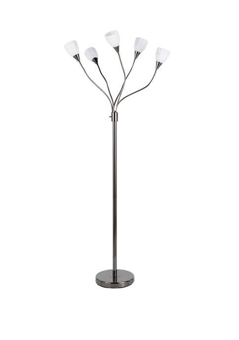 LumiSource Medusa Floor Lamp Black
