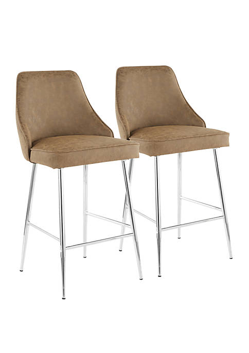 LumiSource Marcel Counter Stool Pair
