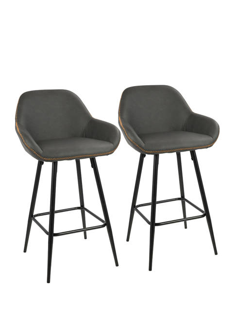 LumiSource Set of 2 Clubhouse Counter Stool