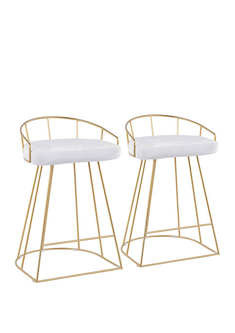 LumiSource Canary Counter Stool Pair