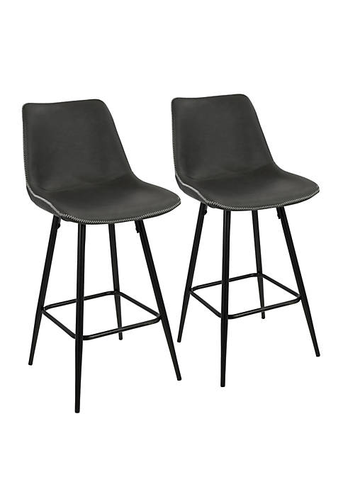 LumiSource Durango Counter Stool Pair