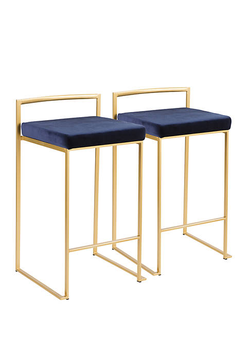 LumiSource Fuji Gold Counter Stool Pair