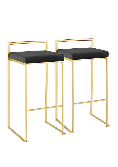 LumiSource Fuji Gold Stacker Barstool Pair