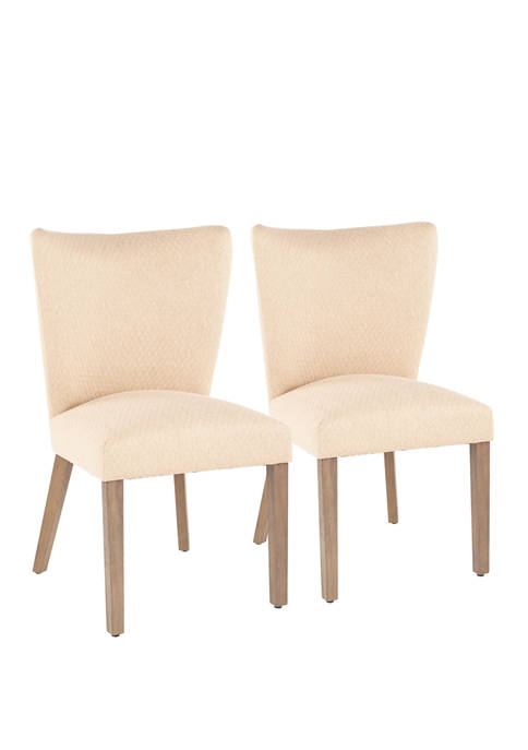 LumiSource Set of 2 Addison Dining Chairs