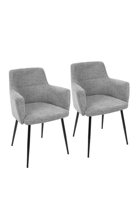 LumiSource Set of 2 Andrew Dining Chair Black