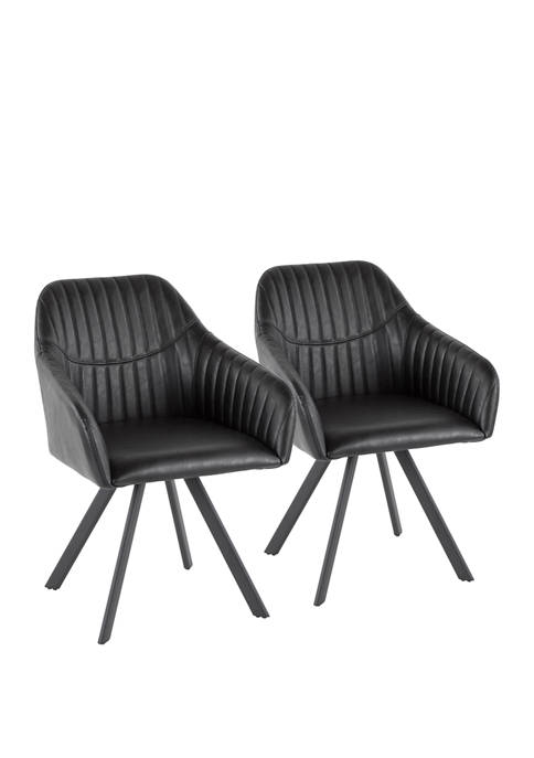 LumiSource Set of 2 Clubhouse Pleated Chairs