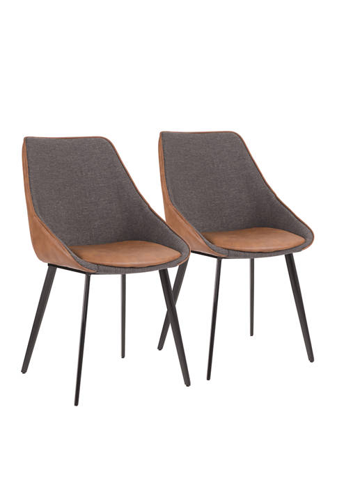 LumiSource Set of 2 Marche Two Tone Chair