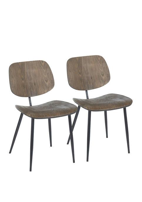 LumiSource Set of 2 Wilson Chairs