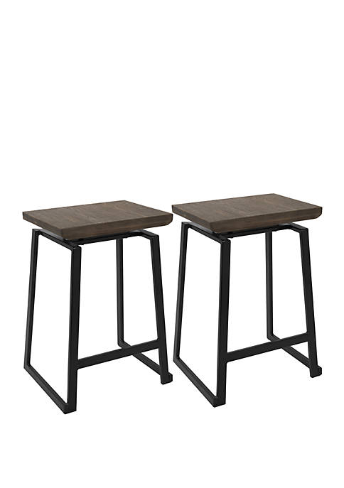 Geo Counter Stool Pair