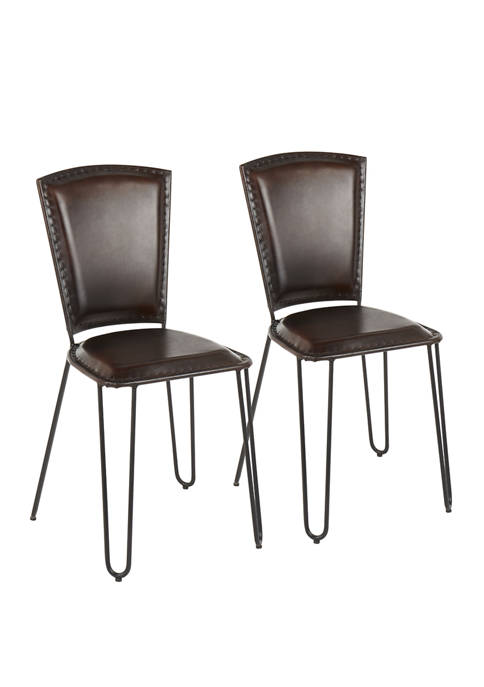 LumiSource Set of 2 Ali Dining Chairs