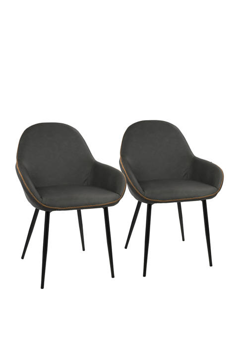 LumiSource Set of 2 Clubhouse Dining Chairs