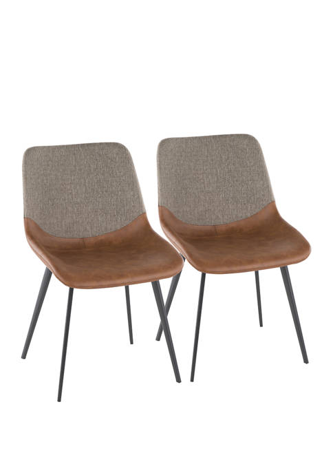 LumiSource Set of 2 Outlaw Two-Tone Chairs