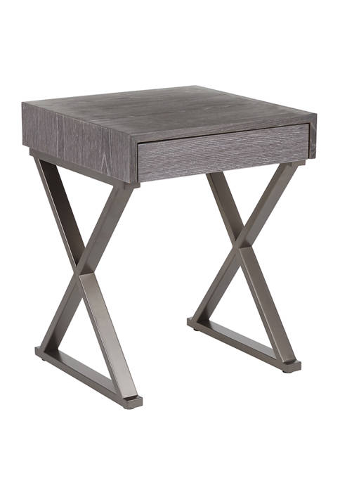 LumiSource Industrial Luster End Table