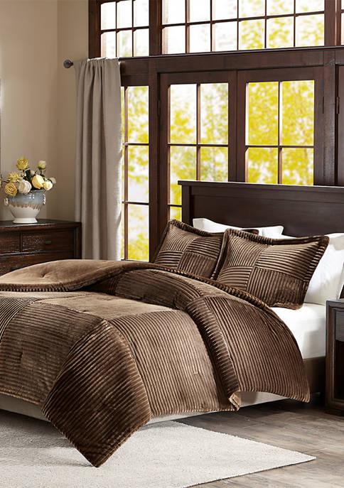 Parker Corduroy Plush Comforter Mini Set
