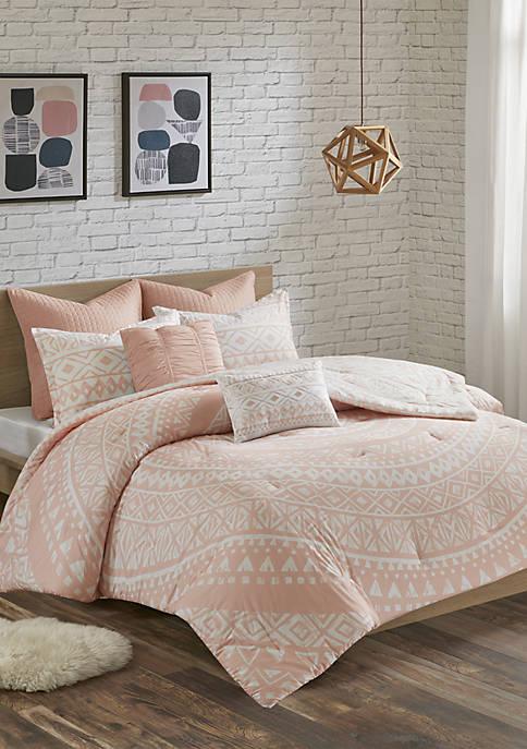 Urban Habitat Larisa 7 Piece Cotton Reversible Comforter