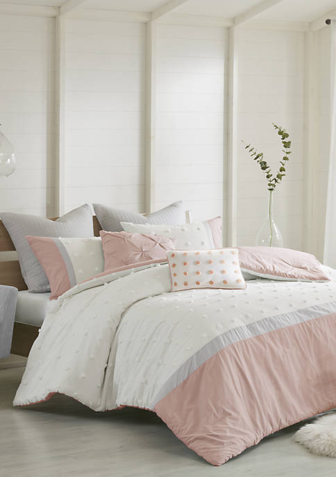 Myla 7 Piece Cotton Jacquard Comforter Set