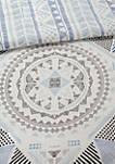 Rochelle 7 Piece Cotton Reversible Comforter Set