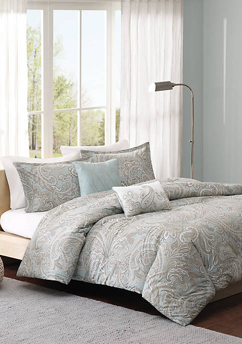 Madison Park Pure Ronan 5 Piece Cotton Duvet
