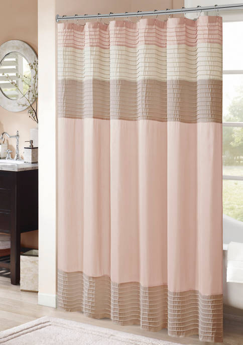 Madison Park Amherst Faux Silk Shower Curtain