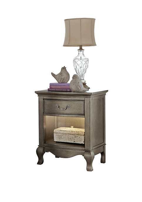 Hillsdale Furniture Kensington Nightstand with Lights, Antique