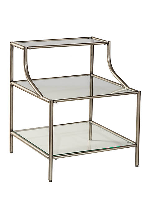 Hillsdale Furniture Corbin Step Table with 3 Glass