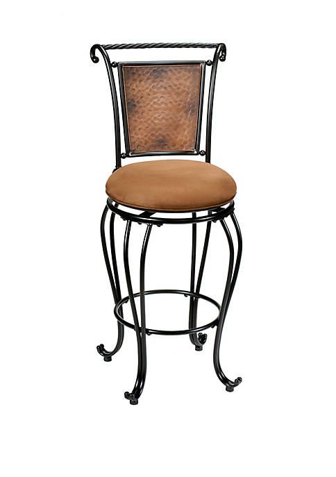 Hillsdale Furniture Milan Swivel Bar Height Stool, Black/Copper