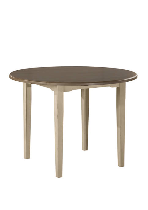 Hillsdale Furniture Clarion Round Drop Leaf Dining Table